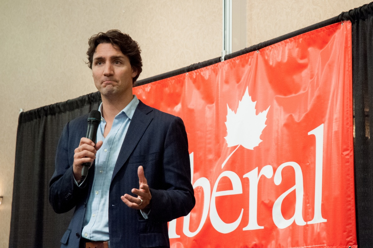 Justin Trudeau addresses his audience at TRU on Jan. 21. - Photo by Sean Brady