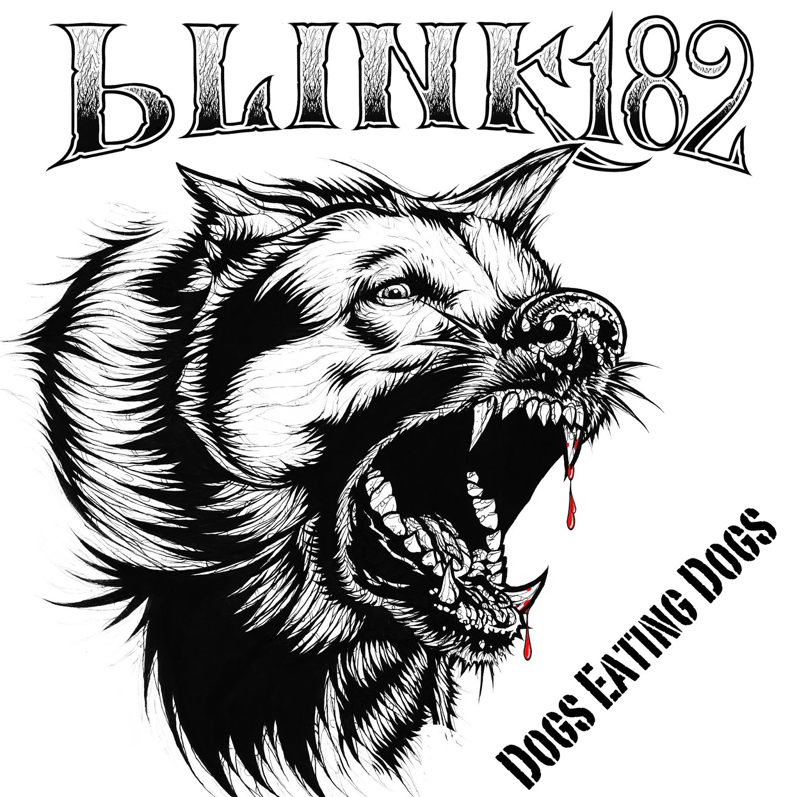 blink-182's latest studio release is the five-track EP Dogs Eating Dogs. - Image courtesy blink-182