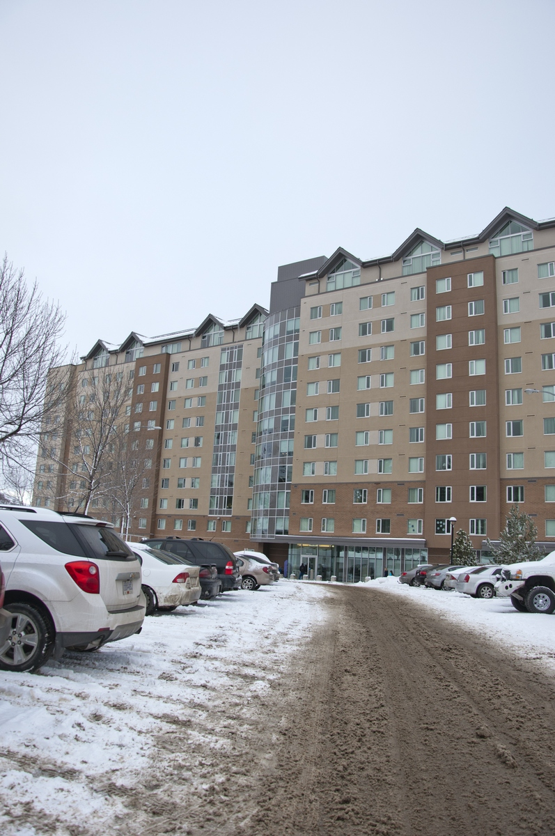 The TRU Residence and Conference Centre is one of few on-campus housing options for students. - Photo by Karla Karcioglu