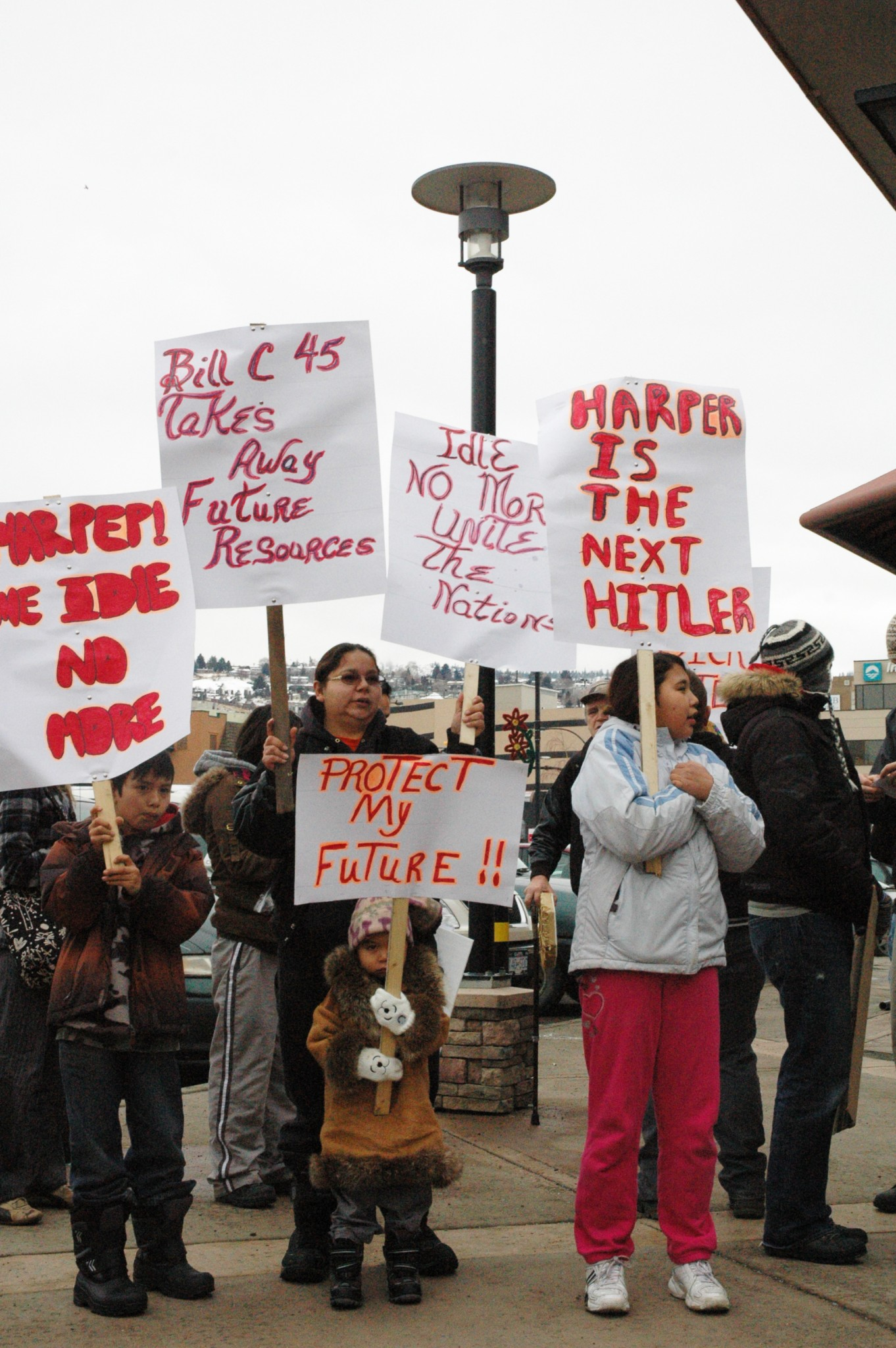 #IdleNoMore comes to downtown Kamloops Dec. 21, 2012    -PHOTO BY MIKE DAVIES
