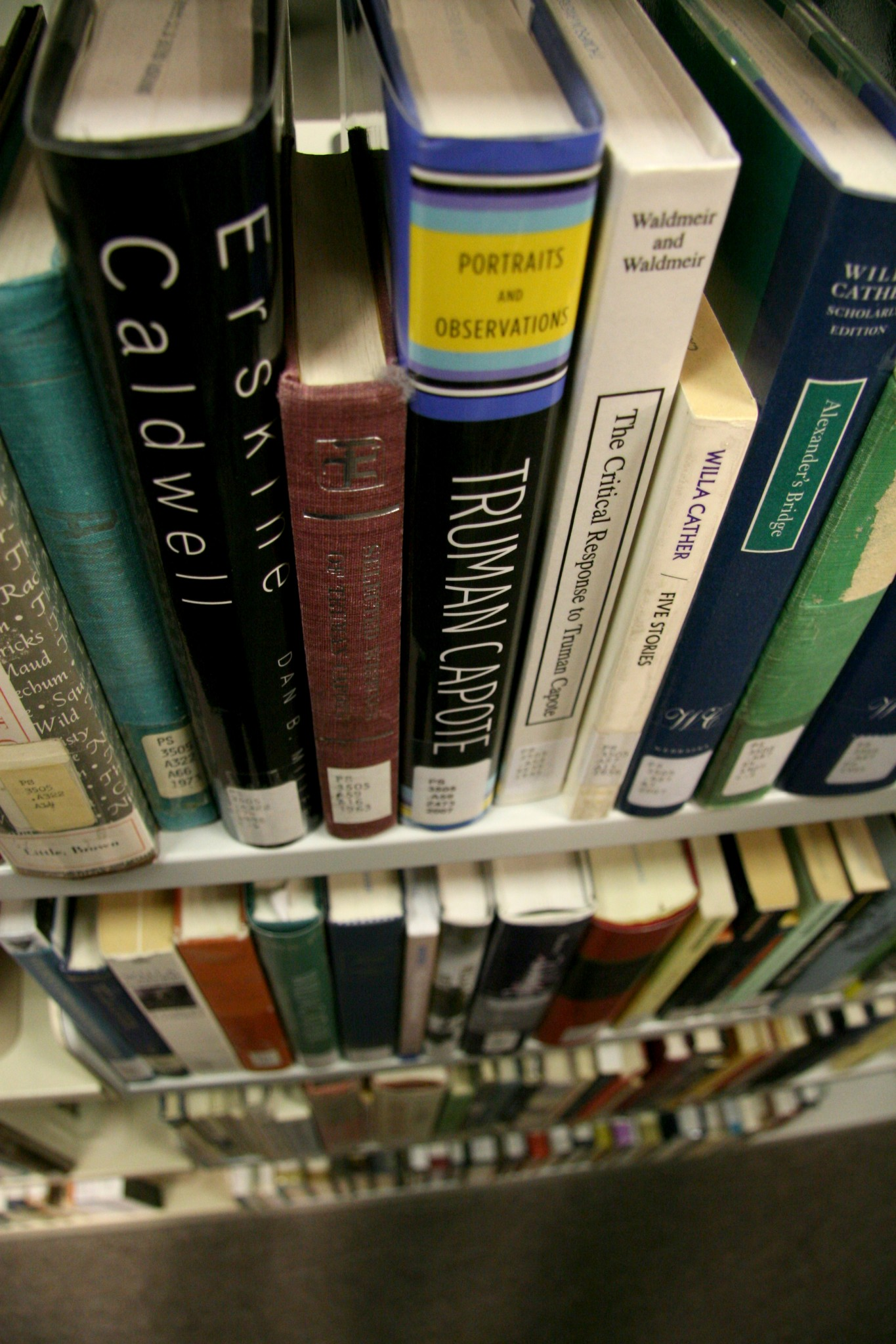 TRU's Living LIbrary gave books, such these pictured in the TRU Library, a rest. - Photo courtesy Thompson Rivers University