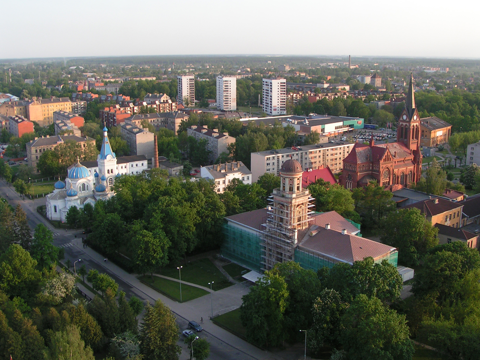 This photo, taken from a hot air balloon, depicts Jelgava, Latvia, the hometown of TRU student Vita Andersone. - Photo by Igors Jefimovs/ Wikimedia Commons