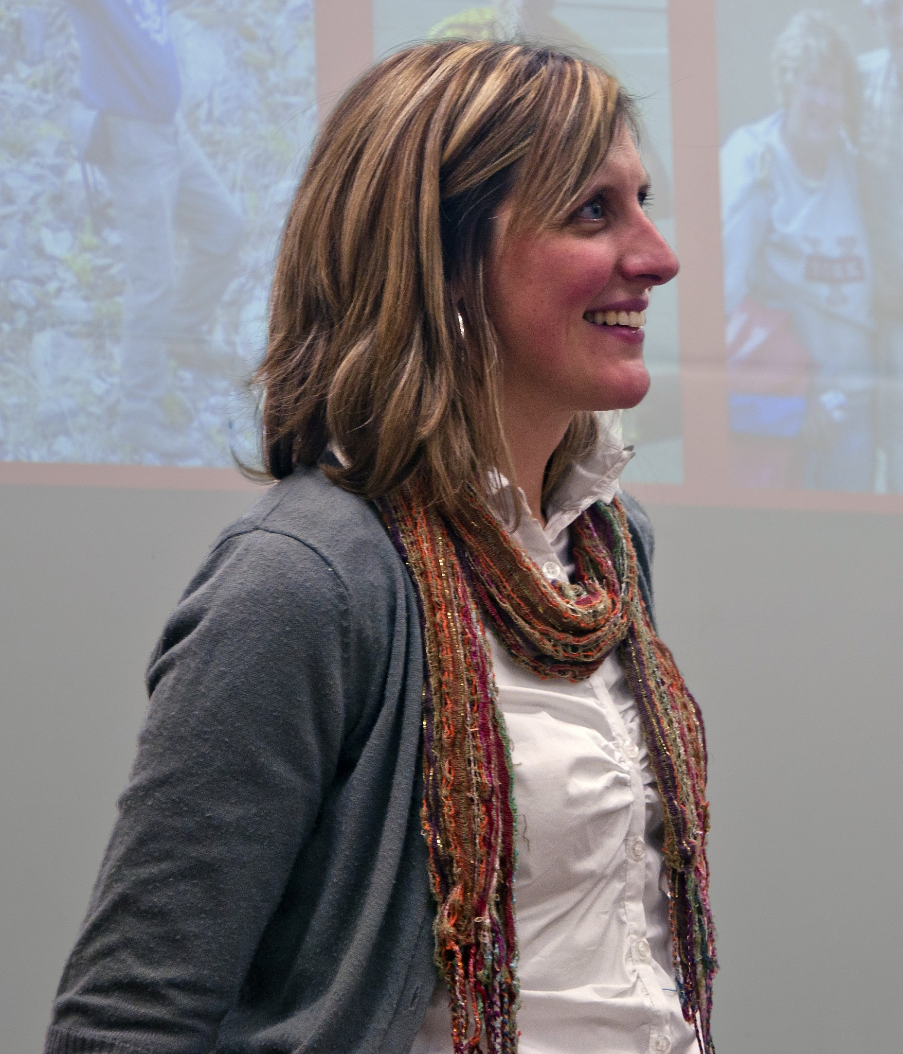 Leigh Anne Isaac presenting a seminar to a group of students Jan. 31 - Photo by Mark Hendricks