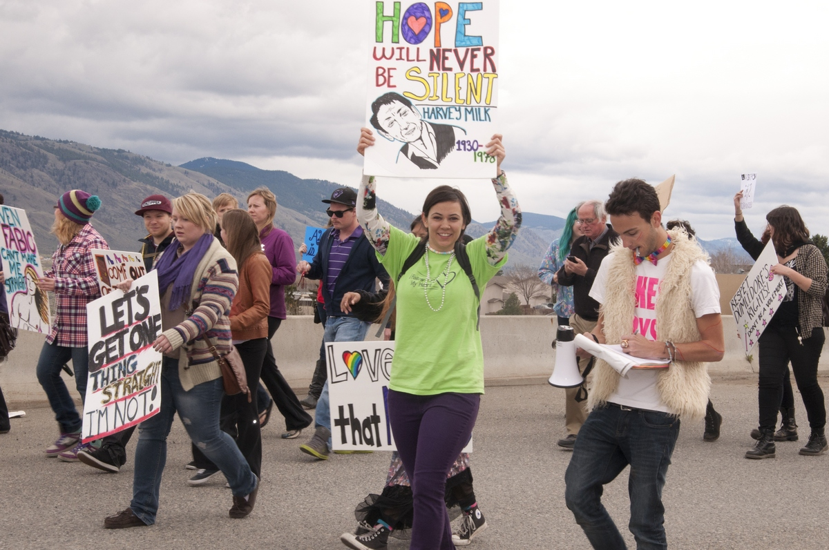 Approximately 400 people marched in the second annual TRUSU Pride Parade on April 5. - PHOTO BY DEVAN C. TASA