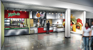 The proposed food service area on the second floor of Old Main is expected to house a Triple O's, an Extreme Pita, Bento Sushi and more, although not for at least another year. (Submitted by TRU)