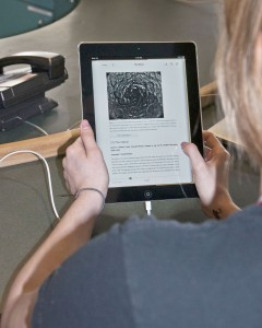 Digital textbooks might be the savings answer some are looking for. Karla Karcioglu/The Omega