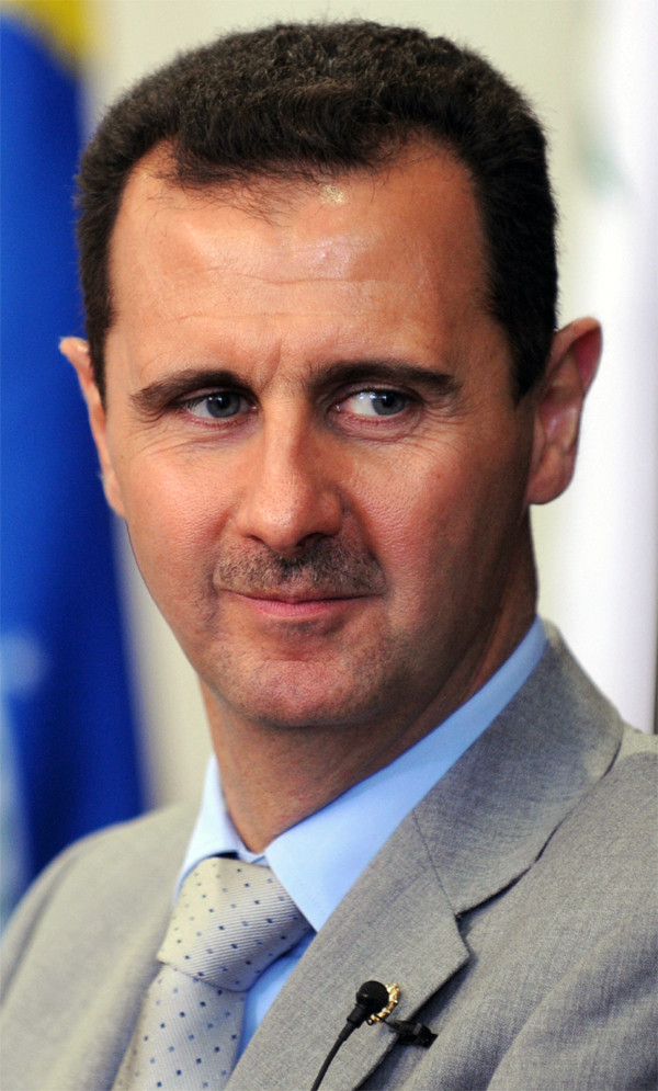 Syrian President Bashar al-Assad. Image courtesy Wikipedia Commons - Bashar_al-Assad_cropped