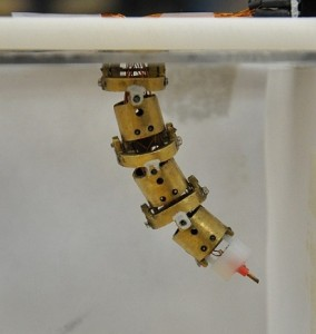 A prototype version of the robots that could be helping clear brain tumors. Image courtesy University of Maryland