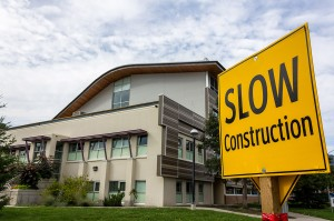 This isn't the first time Old Main construction delays have plagued the third-storey project. Sean Brady/The Omega