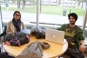 Rupinder Matharoo (left) and Manjod Kaur (right) are both international students from India in the computing science program. Karla Karcioglu/The Omega