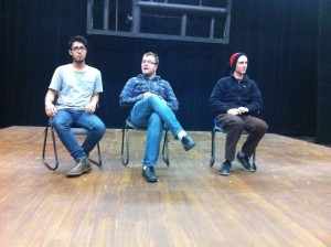Dan Ondang, Kory Cudmore and Erik Stephany have all taken a liking to the art of improv and will be performing on Dec. 1. Photo courtesy Andrew Cooper