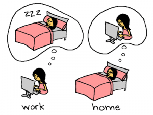 Why is it when we're at work (or school) we wish we were at home in bed, but when we're home in bed we just think about work (or school)? Maybe because we don't take enough time off. kroszk@/Flickr Commons