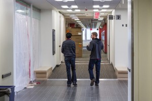 Some of the third floor remains a construction zone, but many areas are open to students. Sean Brady/The Omega