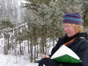 Baldwin on a field journaling trip in Kamloops on Jan. 25. Image courtesy W. Marc Jones