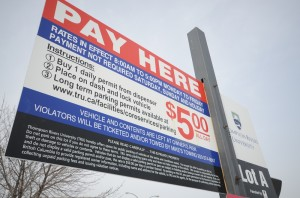 Alternative parking rates being suggested include a half day rate of $3 for four hours in central parking lots, a dedicated carpool lot and a discounted rate of $4 per day in lot N. Jessica Klymchuk/The Omega