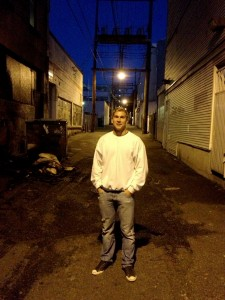 Joey Kornelsen, a TRU student and player for the Kamloops Blazers, toured Vancouver's Downtown Eastside for Project EDGE, seeing the effects of drug use firsthand. Photo courtesy Joey Kornelsen