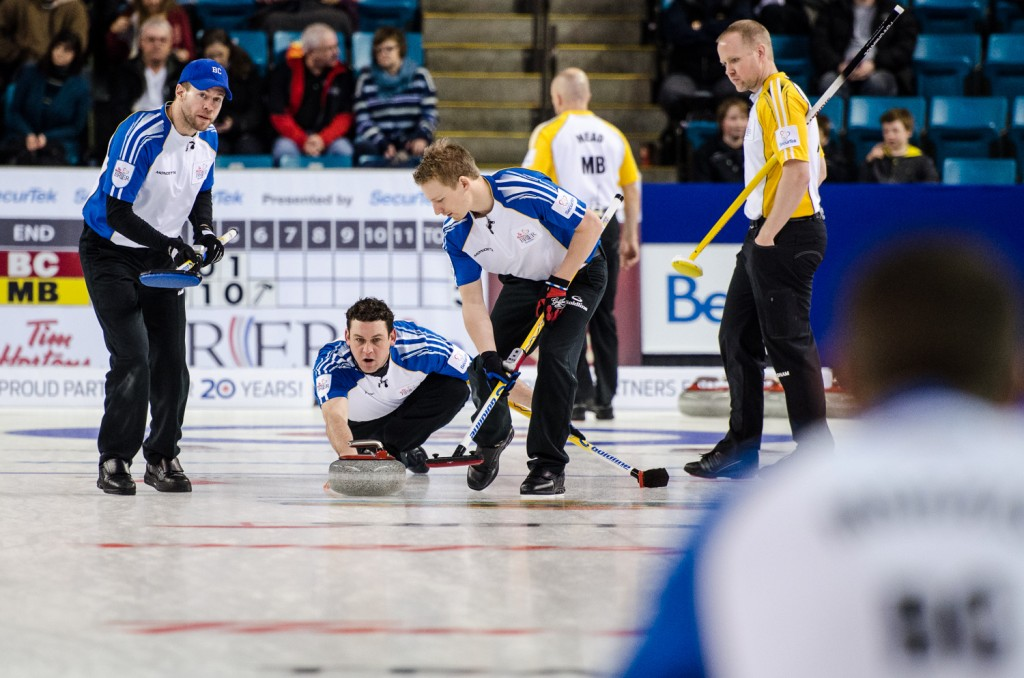 B.C. took its second loss, falling to 8-2, now tied for second with Manitoba, the rink that defeated it in draw 14. Sean Brady/The Omega