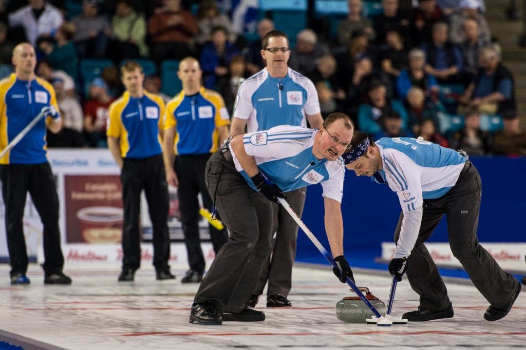 Quebec finished round robin play with a 7-4 record.  B.C., Manitoba and Alberta held 9-2 records. Sean Brady/The Omega