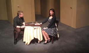Dress rehearsal of Awkward Silence, a one-act play that will be shown at the Directors Festival, which starts April 7. Photo courtesy Allison Clow