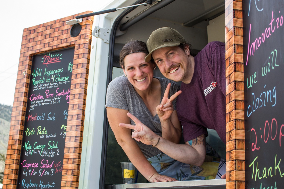 Natalie Basile and Mikey Wheeler-Johnson operate the Italian style food truck Eats Amoré. Sean Brady/The Omega
