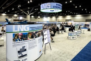 This was the trade show floor at the provincial government-hosted International LNG in BC Conference in May 2014. (Image courtesy Province of British Columbia)