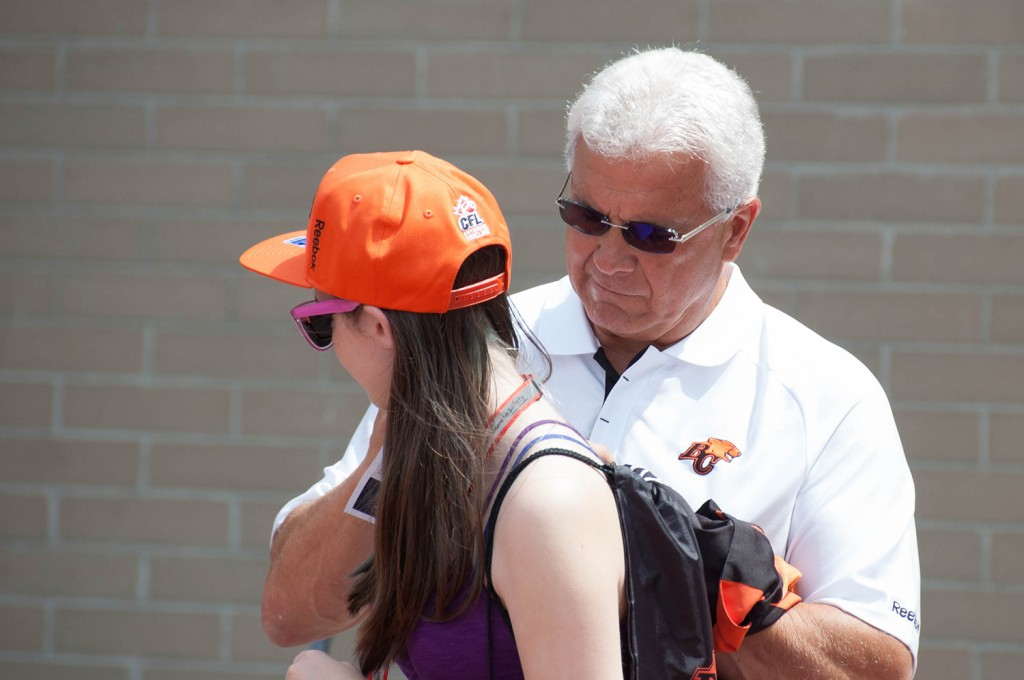 General Manager (and Lions legend) Wally Buono mingled with fans and stopped to sign a few autographs, as well. -Mike Davies/The Omega