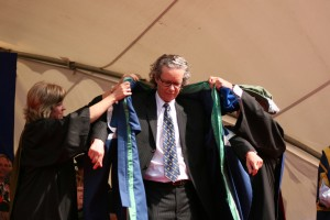 TRU president Alan Shaver seen during his installation in 2011. (Thompson Rivers University)