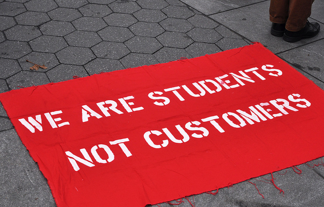 The students at Cooper Union fought for something we've never really had: access to free education. In their campaign, they acknowledged their unique position as students, not customers. (Michael Fleshman/Flickr Commons)