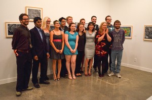 "Director Wesley Eccleston (left) and the cast of ""Patience"". (from left to right) Wesley Eccleston, Joe Bunn, Celine Majcher, Rebekah Binder, Daniel Ondang, Erik Stephany, Shannon Dunn, Madison Henry, Jessica Buchanan, Mercedes Basford, Taran Waterhous, Chanelle Renee, and Josh Sunderman"