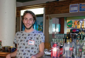 Nic Zdunich, third-year communications student and student liason for ancillary services at Heroes Pub. (Carli Berry/The Omega)