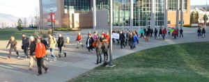 130 people participated in the walk/run at TRU. (Tayla Scott/ The Omega)