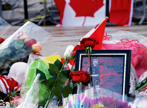 Flowers and memorials were left for Cpl. Nathan Cirillo, who was shot and killed while he stood guard at a war memorial outside Parliament on Oct. 22. (Jamie McCaffrey/Flickr Commons)