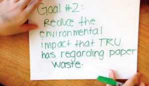 "A still from from a video presenting the ""Green Hands"" project, a successful application from last year (Courtesy TRU)"