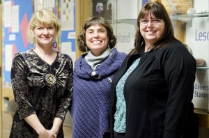 Florriann Fehr, Kim Munich and Wendy McKenzie are investigating female inter- national student experiences with the Canadian health care system at TRU. (Ashley Wadhwani/The Omega)