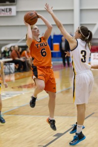 Jorri Duxbury helped lead the 'Pack over the Heat with over 30 steals. (TRU Athletics)