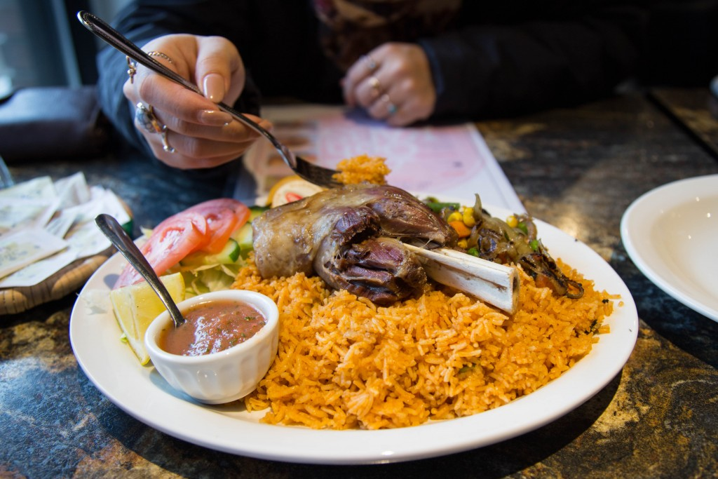Ooh! Kabsa offers authentic and delicious middle eastern cuisine a stones throw from TRU. (Kim Anderson/The Omega)