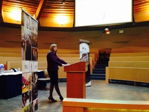 B.C. Privacy Commissioner Elizabeth Denham speaks about oversight and Bill C-51 at TRU on Feb. 4. (Alexis Stockford/The Omega)