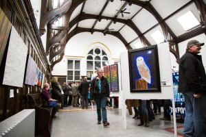 "Artwork in all forms took over the Old Kamloops Courthouse in the opening of ""Art Exposed."" (Kim Anderson/The Omega)"
