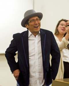 Richard Wagamese was on campus for the annual Storyteller's Gala on Feb. 25. (Kasahra Atkins/The Omega)