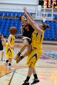 Jen Ju was a strong player for the 'Pack, now playing pro in Germany. (TRU Athletics)