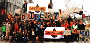 A divestment campaign at UBC resutled in a 62 per cent-in-favour faculty vote to divest from oil and gas. (UBC350)
