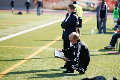Natasha Little was an apprentice under coach Tom McManus at TRU, in a program that attempts to increase the number of female head coaches. (TRU Athletics)