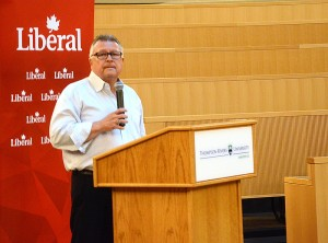 Former finance minister Ralph Goodale spoke at TRU on June 26. (Wade Tomko/The Omega)