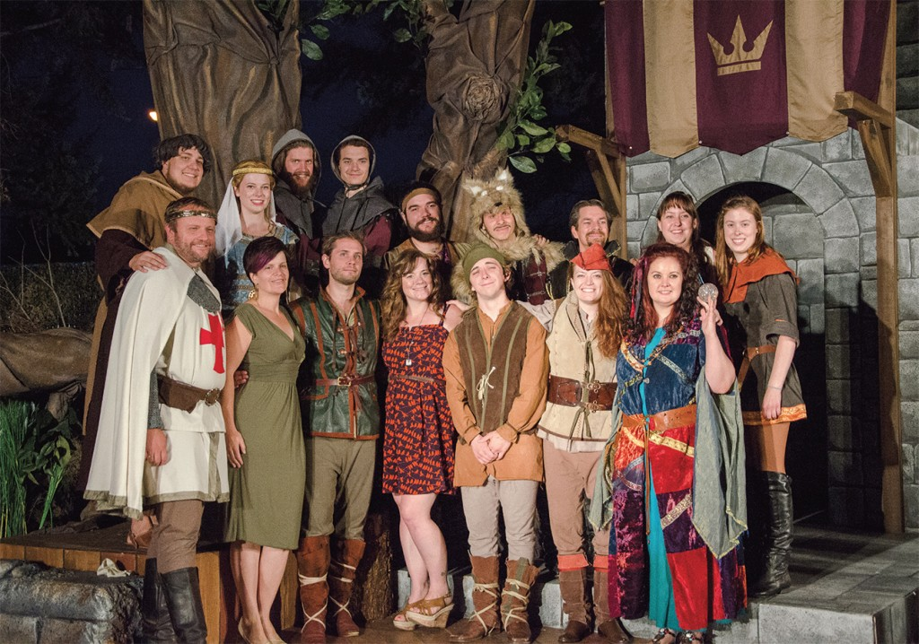 "Cast and crew of ""The Merry Adventures of Robin Hood"" poses after its opening show on July 16. (Cameron Doherty/The Omega)"