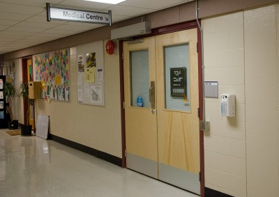 TRU's Campus Medical Centre in Old Main is booking one month in advance. (Wade Tomko/The Omega)