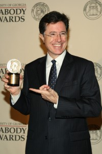 Colbert may have even more awards in his future if he can sustain and improve upon his first week as Late Show host. (Anders Krusberg/Peabody Awards)
