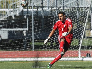 TRU goalkeeper Travis Froehlich had the fifth most saves in all of CIS soccer last year. (TRU Athletics)