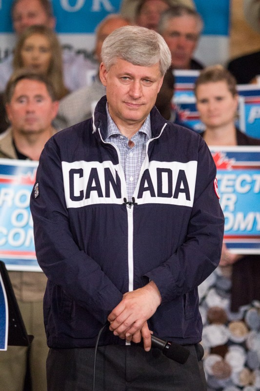 Stephen Harper at a party event in Kamloops on Sept. 14, 2015. (Sean Brady/The Omega)