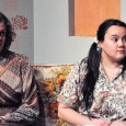 Jessica Buchanan and Selena Tobin in Back to Beulah playing roles as mental patients Betty and Agnes. (Jennifer Will/The Omega)