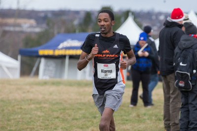 Tony Kiprop racing at the CIS nationals in Ontario. (TRU Athletics)
